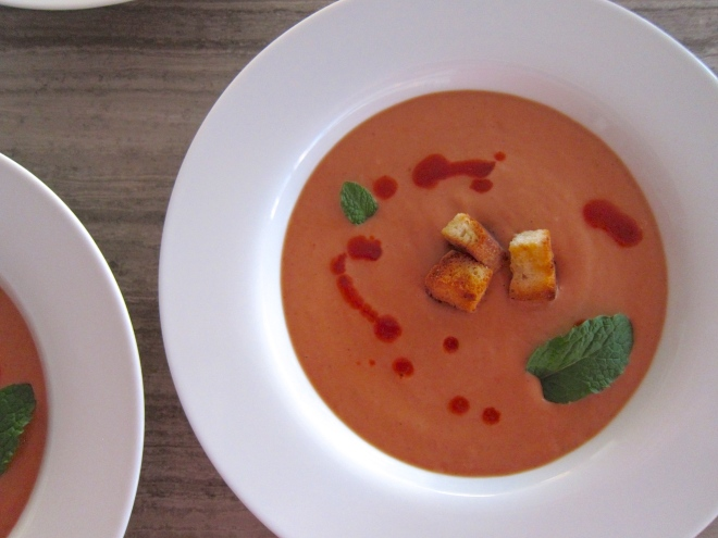 Eleven Madison's Strawberry Gazpacho