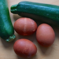 Zucchini with Eggs (Kolokouthkia me t'afka / Κολοκουθκια με τ'αφκα)