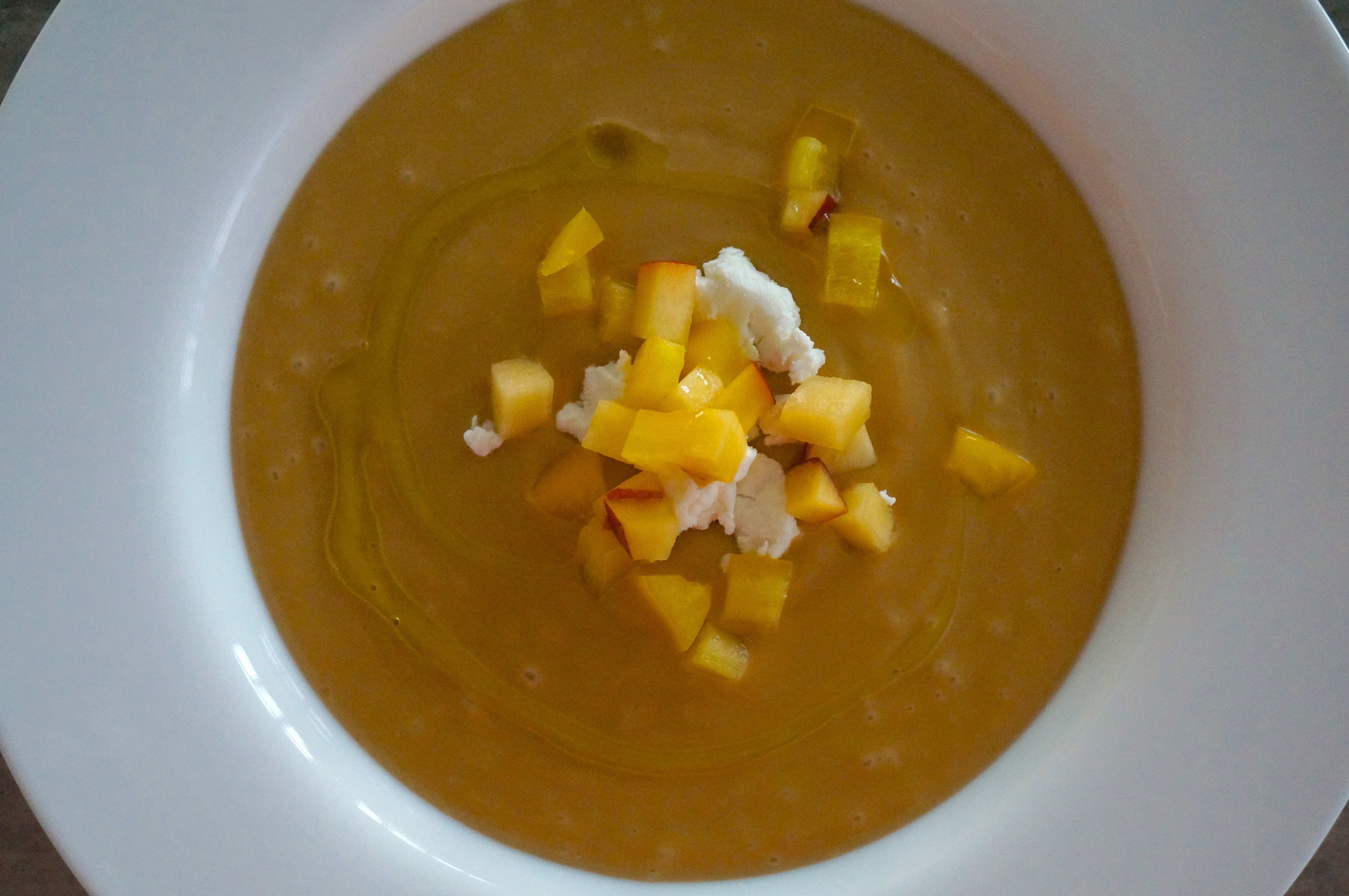 Chilled Peach Soup with Fresh Goat Cheese – Slightly Adapted from ...