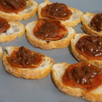 Chorizo and Chocolate Toasts