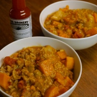 Sweet Potato, Kohlrabi, and Peanut Stew