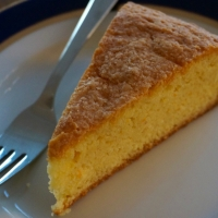 Orange Blossom Cornmeal Cake